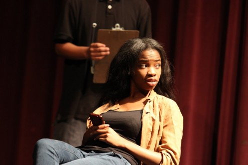 Senior Itohan Amayo appears in the One-Act Plays (above) and also is a finalist in the KC Superstars competition.