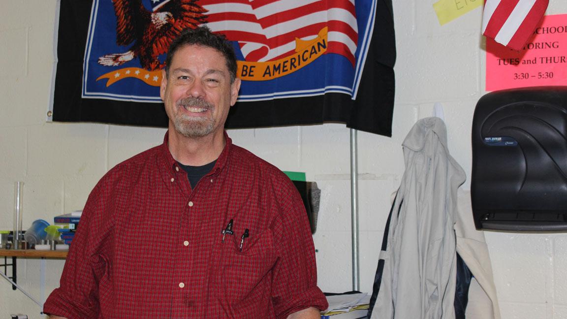 Alex Wampler - chemistry teacher but also volleyball and robotics coach.